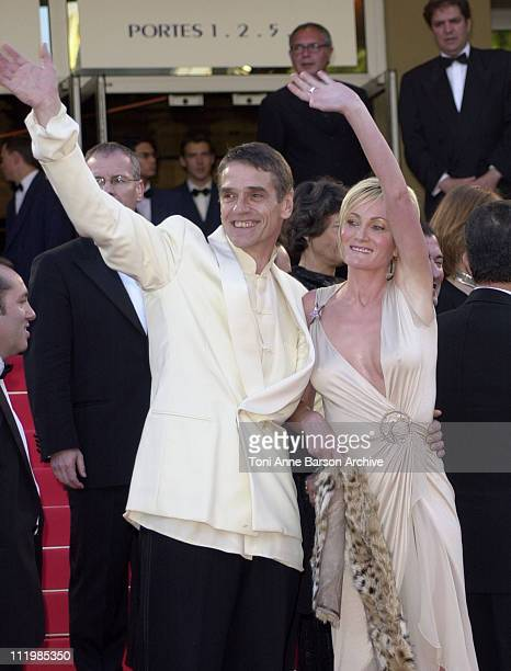 Jeremy Irons and Patricia Kaas during Cannes 2002 Palmares Awards Ceremony Arrivals at Palais des Festivals in Cannes France