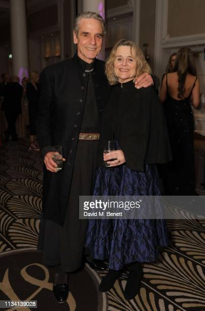 Jeremy Irons and Sinéad Cusack attend the Russian Ballet Gala and dinner on March 31 2019 in London England