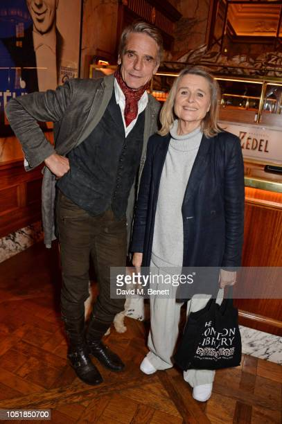Jeremy Irons and Sinead Cusack attend an after party for Happy Birthday Harold a charity gala celebrating the life and work of Harold Pinter and the...