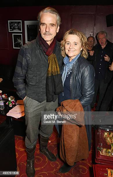 Jeremy Irons and Sinead Cusack attend I'm With The Banned presented by the Belarus Free Theatre in celebration of their 10th anniversary at KOKO on...