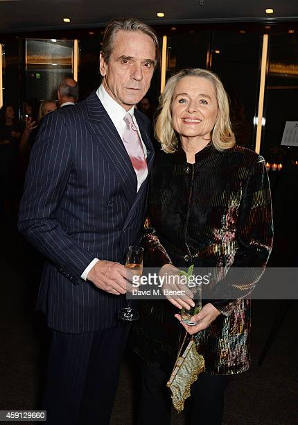Jeremy Irons and Sinead Cusack attend the Liberatum Cultural Honour for Francis Ford Coppola at The Bulgari Hotel on November 17 2014 in London...