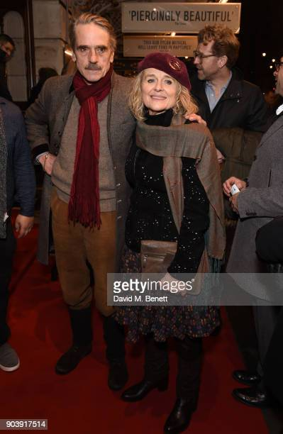 Jeremy Irons and Sinead Cusack attend the West End opening of Bob Dylan and Conor McPherson's Girl from the North Country at Noel Coward Theatre on...