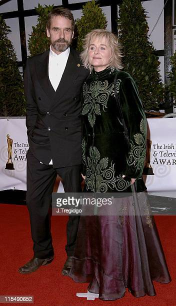 Jeremy Irons and Sinead Cusack during Irish Film and Television Awards 2005 at Royal Dublin Society in Dublin Ireland
