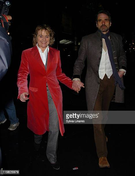 Jeremy Irons and Sinead Cusack during The Lady From Dubuque Gala Evening at Theatre royal in London Great Britain