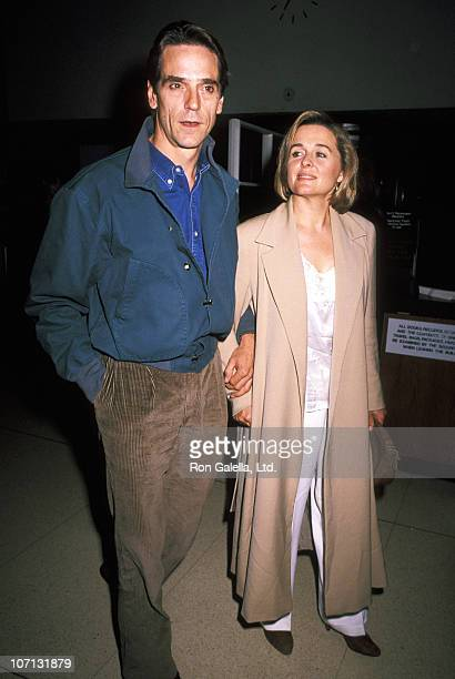 Jeremy Irons and Sinead Cusack during Waterland Premiere October 12 1992 at Bruno Walter Auditorium in New York City New York United States
