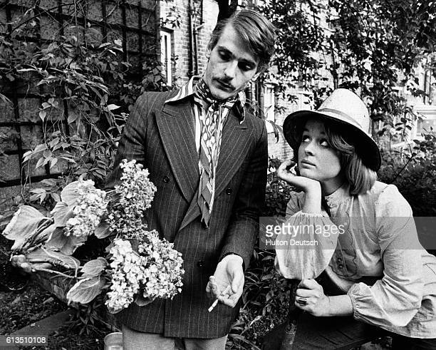 Jeremy Irons and Sinead Cusack in the garden of their new Hampstead home