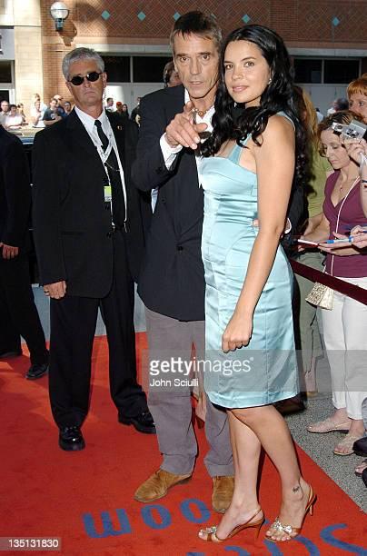 Jeremy Irons and Zuleikha Robinson during 2004 Toronto International Film Festival 'Merchant of Venice' Premiere at Elgin Theatre in Toronto Ontario...