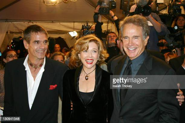 Jeremy Irons Annette Bening and Warren Beatty during 2004 Toronto International Film Festival 'Being Julia' Premiere at Roy Thompson Hall in Toronto...