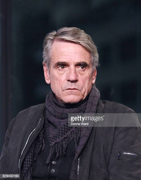 Jeremy Irons appears to promote 'Assassin's Creed' during the AOL BUILD Series at AOL HQ on December 12 2016 in New York City