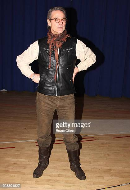 Jeremy Irons attends a meetandgreet for the Broadway show Impressionism at the New 42nd Street Studios on February 17 2009 in New York City
