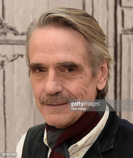 Jeremy Irons attends AOL Build Speaker Series Jeremy Irons Race at AOL Studios In New York on February 1 2016 in New York City