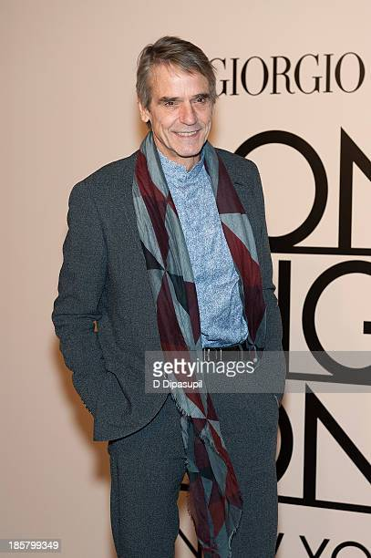 Jeremy Irons attends Armani One Night Only New York at SuperPier on October 24 2013 in New York City