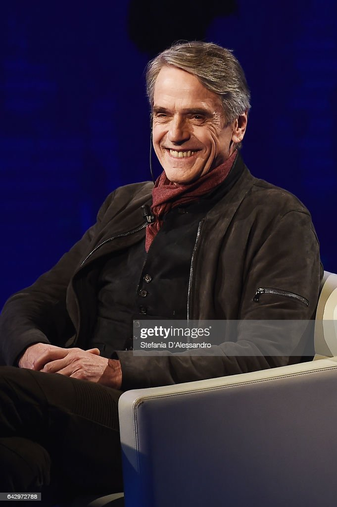 Jeremy Irons attends 'Che Tempo Che Fa' tv show on February 19, 2017 in Milan, Italy.