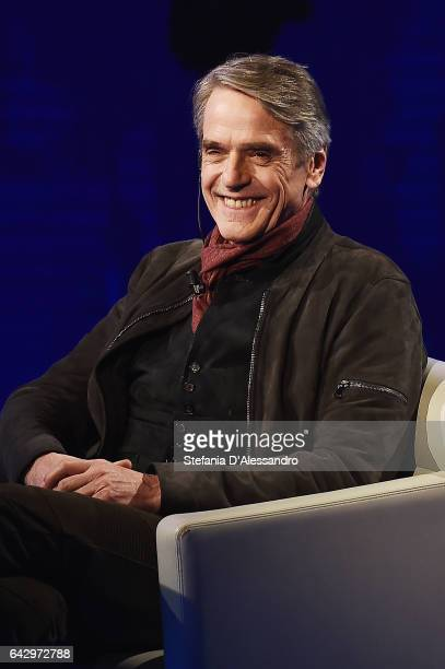 Jeremy Irons attends 'Che Tempo Che Fa' tv show on February 19 2017 in Milan Italy