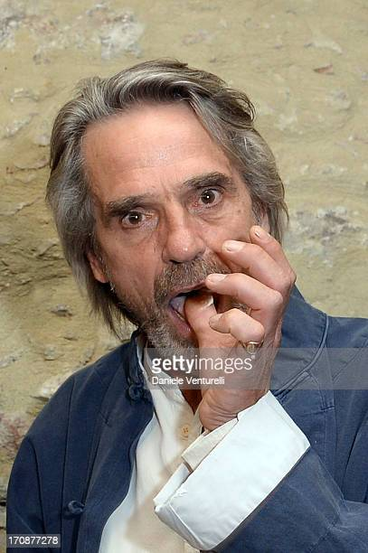 Jeremy Irons attends 'Clifton Collection' Gala Dinner Hosted by Baume Mercier And Taormina Filmfest on June 19 2013 in Taormina Italy
