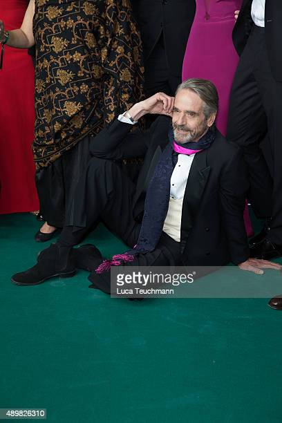 Jeremy Irons attends opening ceremony of the Zurich Film Festival on September 24 2015 in Zurich Switzerland The 11th Zurich Film Festival will take...