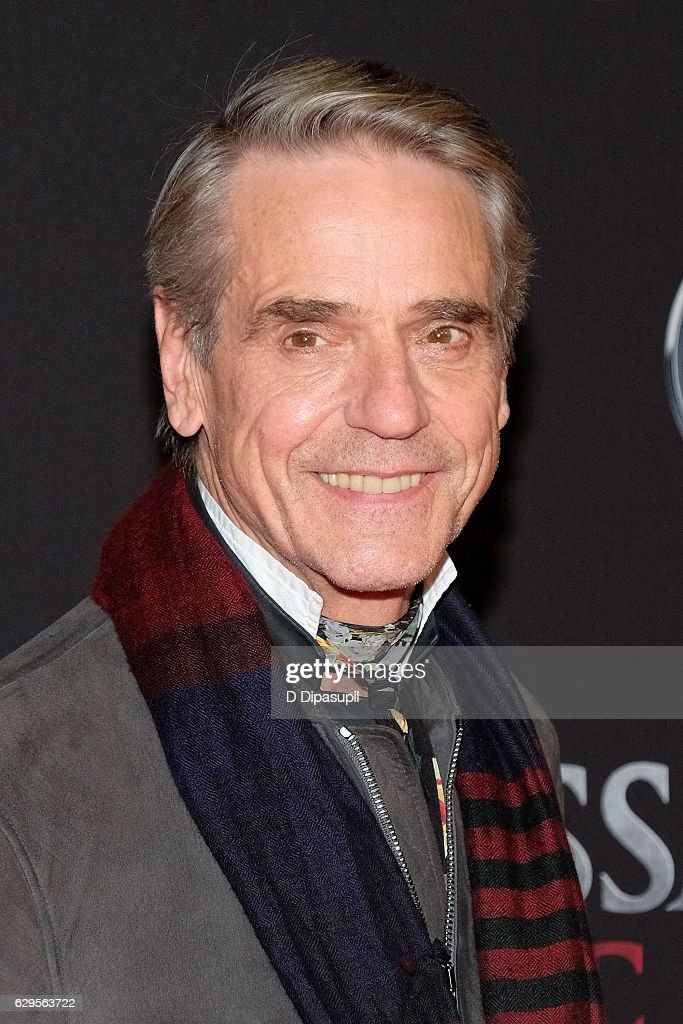 Jeremy Irons attends the 'Assassin's Creed' New York premiere at AMC Empire 25 theater on December 13, 2016 in New York City.