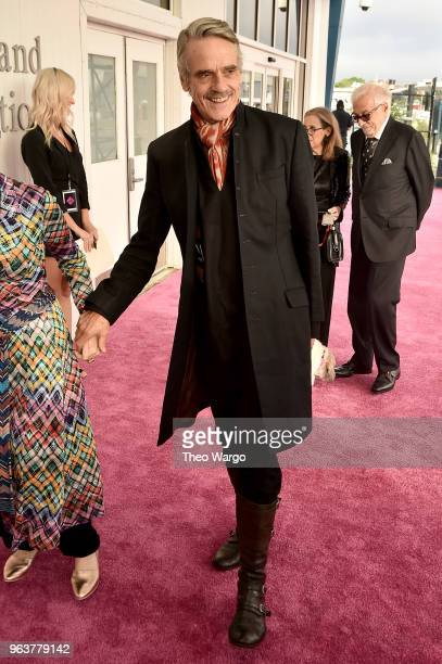 Jeremy Irons attends the BAM Gala 2018 honoring Darren Aronofsky Jeremy Irons and Nora Ann Wallace at Brooklyn Cruise Terminal on May 30 2018 in New...