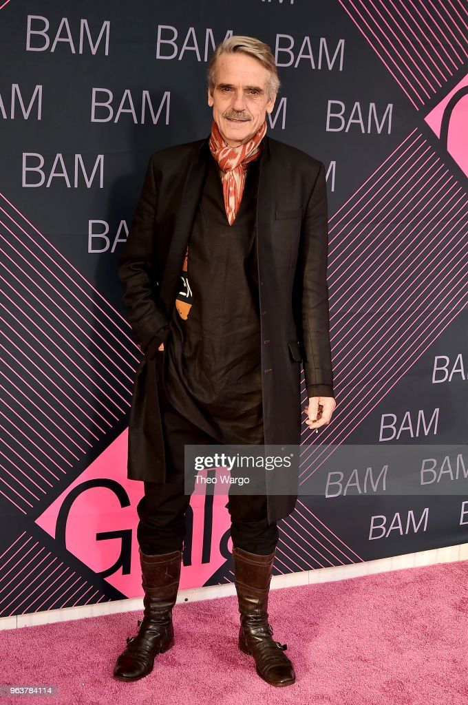Jeremy Irons attends the BAM Gala 2018 honoring Darren Aronofsky, Jeremy Irons, and Nora Ann Wallace at Brooklyn Cruise Terminal on May 30, 2018 in New York City.