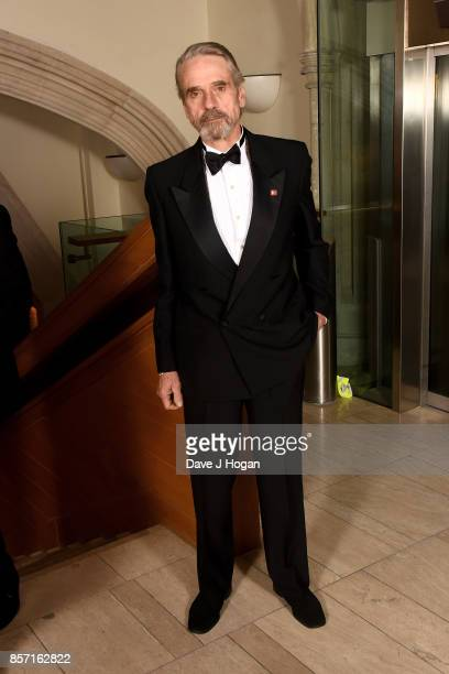 Jeremy Irons attends the BFI Luminous Fundraising Gala at The Guildhall on October 3 2017 in London England