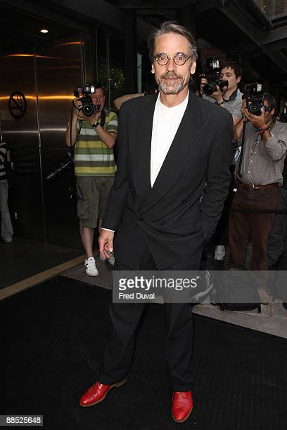 Jeremy Irons attends the English National Ballet Ballets Russes at Sadler's Wells Theatre on June 16 2009 in London England
