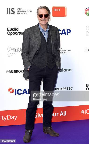 Jeremy Irons attends the ICAP charity day at ICAP on December 9, 2015 in London, England.