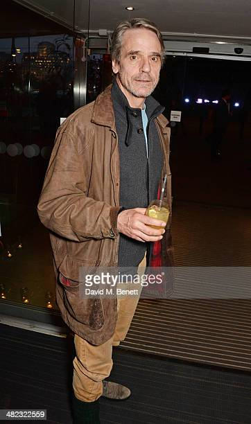 Jeremy Irons attends the launch of the 3rd annual 'Made In Britain' season featuring the films of producer Jeremy Thomas at the BFI Southbank on...