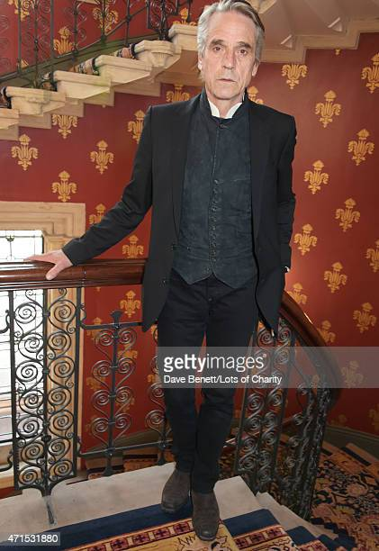 Jeremy Irons attends the Lotsofcharitycom Remarkable dinner at the St Pancras Renaissance Hotel on April 29 2015 in London England