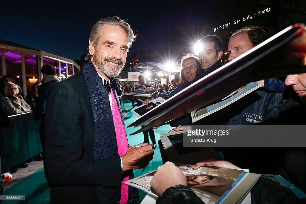 Jeremy Irons attends the opening ceremony of the Zurich Film Festival on September 24, 2015 in Zurich, Switzerland. The 11th Zurich Film Festival will take place from September 23 until October 4.