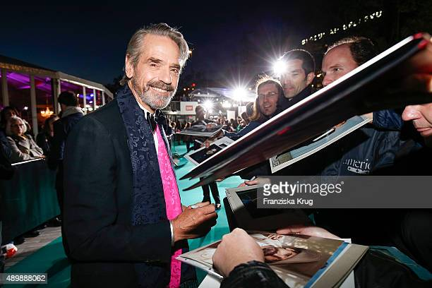 Jeremy Irons attends the opening ceremony of the Zurich Film Festival on September 24 2015 in Zurich Switzerland The 11th Zurich Film Festival will...