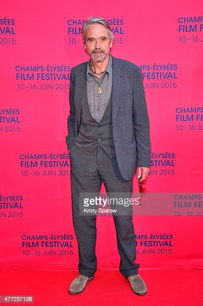 Jeremy Irons attends the 'Une famille a louer' Premiere during the 4th Champs Elysees Film Festival at Publicis Cinemas on June 15 2015 in Paris...