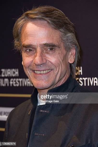 Jeremy Irons attends the Zurich Film Festival 2011 opening green carpet of 'Margin Call' on September 25 2011 in Zurich Switzerland This year's...