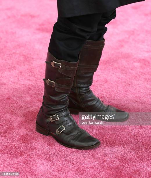 Jeremy Irons boot detail attends BAM Gala 2018 at Brooklyn Cruise Terminal on May 30 2018 in New York City
