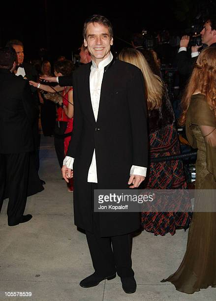 Jeremy Irons during 2005 Vanity Fair Oscar Party at Mortons in Los Angeles California United States