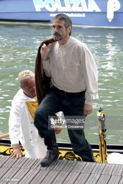 Jeremy Irons during 2005 Venice Film Festival 'Casanova' Photocall Arrivals in Venice Italy