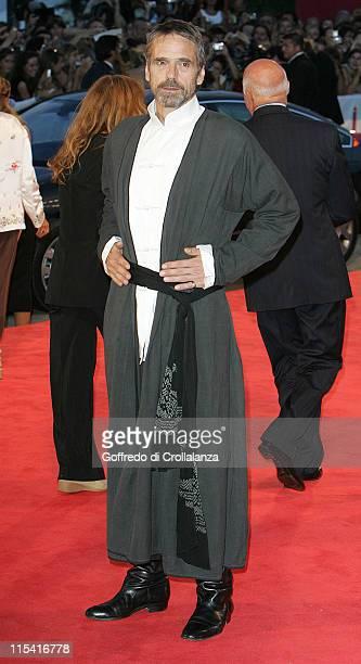 Jeremy Irons during 2005 Venice Film Festival 'Casanova' Premiere Arrivals at Sala Grande in Venice Italy