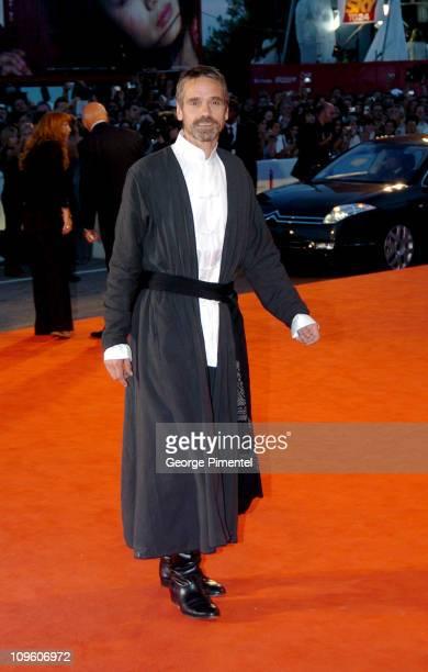 Jeremy Irons during 2005 Venice Film Festival 'Casanova' Premiere Red Carpet at Palazzo del Cinema in Venice Lido Italy