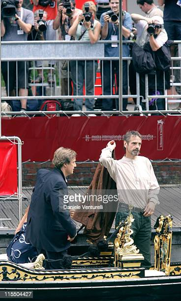 Jeremy Irons during 2005 Venice Film Festival Sienna Miller Sighting September 3 2005 in Venice Lido Italy