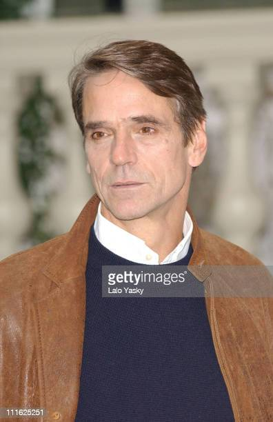 Jeremy Irons during 'Callas Forever' Photocall in Madrid at Ritz Hotel in Madrid Spain