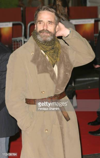 Jeremy Irons during 'Casanova' London Premiere Arrivals at Vue West End in London Great Britain