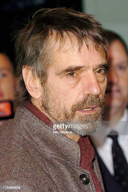 Jeremy Irons during Evening Standard Theatre Awards Arrivals at The Savoy in London Great Britain