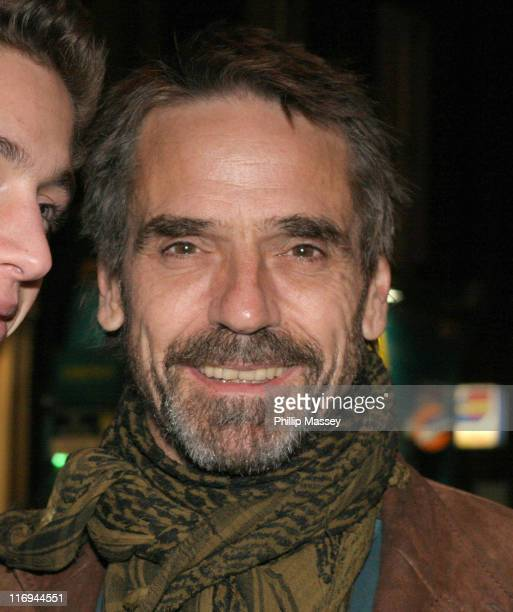 Jeremy Irons during Harold Pinter's Birthday Party October 9 2005 in Dublin Ireland