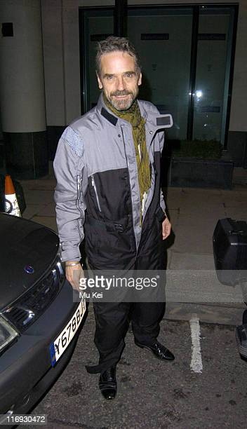 Jeremy Irons during ITV's 50th Anniversary Royal Reception Outside at Guildhall in London Great Britain