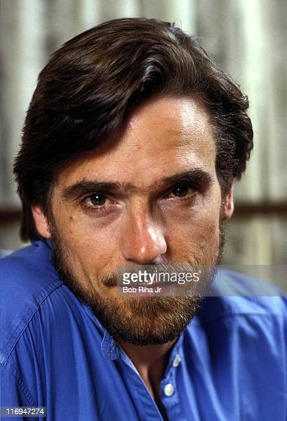 Jeremy Irons during Jeremy Irons 1984 Portrait Session at Unspecified Hotel Room in Los Angeles California United States
