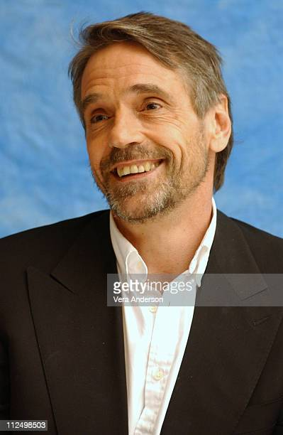 Jeremy Irons during 'Kingdom of Heaven' Press Conference with Orlando Bloom Eva Green Jeremy Irons Liam Neeson and Ridley Scott at Huntington...