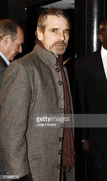 "Jeremy Irons during ""La Vie En Rose"" London Premiere - Arrivals at Curzon Mayfair in London, Great Britain."