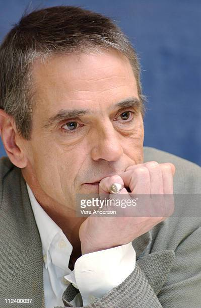 Jeremy Irons during 'The Merchant of Venice' Press Conference with Al Pacino and Jeremy Irons at Four Seasons Hotel in Los Angeles California United...
