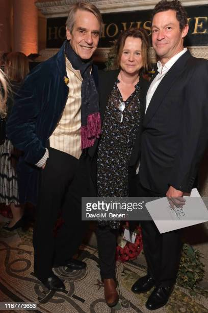 Jeremy Irons, Emily Watson and Dominic West attend the Cancer Research UK St Paul's Carol Concert at St Paul's Cathedral on December 10, 2019 in...