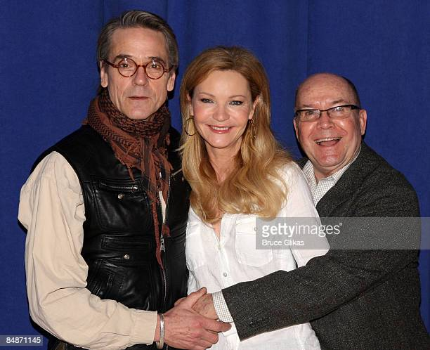 Jeremy Irons Joan Allen and Director Jack O'Brien attend a meetandgreet for the Broadway show Impressionism at the New 42nd Street Studios on...