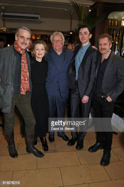 Jeremy Irons Lesley Manville Sir Richard Eyre Matthew Beard and Rory Keenan attend the press night after party of 'Long Day's Journey Into Night' at...